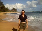 Enjoying Kauai's beaches