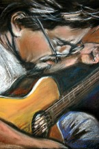 Jeff(another pastel by HT) tuning up.